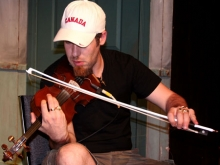 Ashley MacIsaac warming up