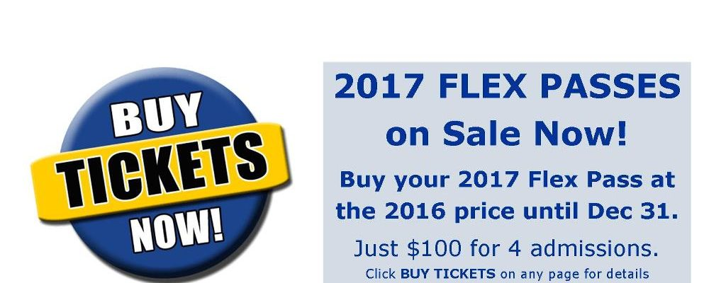 2017 Flex Passes at 2016 Prices!